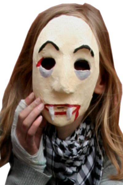 Maske aus Pappmach
