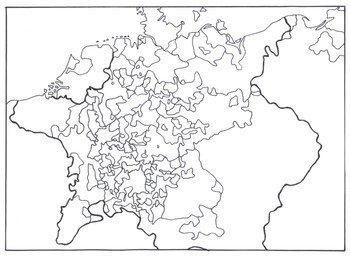 Heiliges Römisches Reich Karte.Zersplitterung Deutschlands Karte Blanko Geschichte An Der